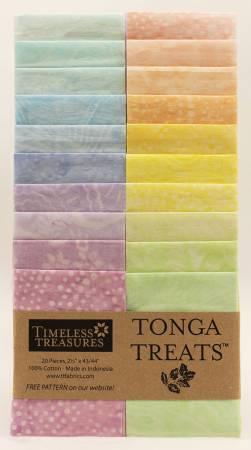 2-1/2in Strips, Tonga Batik Smile, 20pcs/bundle