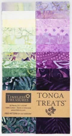 2-1/2in Strips Tonga Batik Tulip, 20pcs/bundle