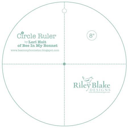 Lori Holt Circle Ruler 8in