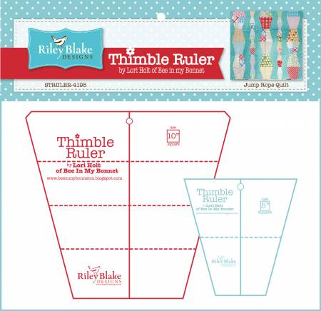 Lori Holt Thimble Rulers With 10in  and 5in  Sizes