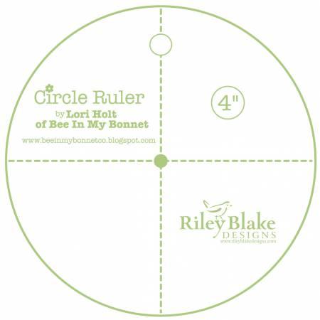 Lori Holt Circle Ruler 4in