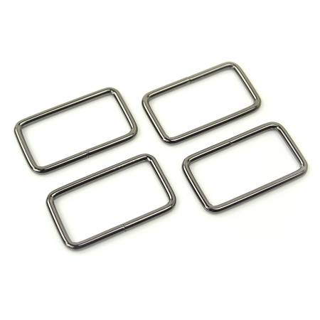 Rectangle Rings Gunmetal 4ct 1-1/2in