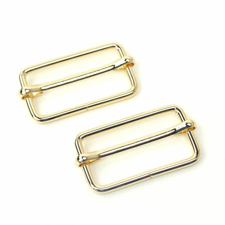 Slider Buckles Gold 2ct 1-1/2in