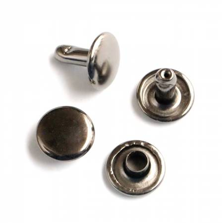 Rivet Set Gunmetal 24ct Medium