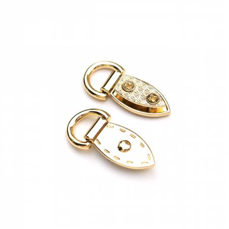 HARDWARE - GOLD Decorative Mini Strap Connectors 2ct