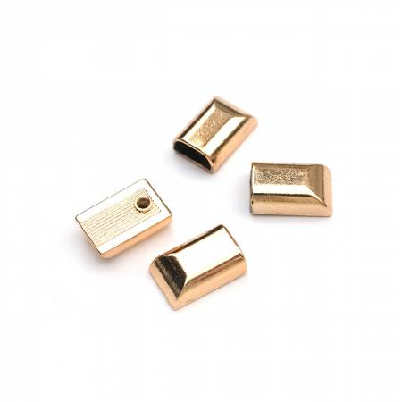 Zipper Stopper Gold