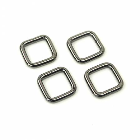 Rectangle Rings 1/2 In Gunmetal