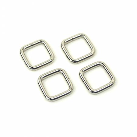 Rectangle Rings 1/2In Nickel