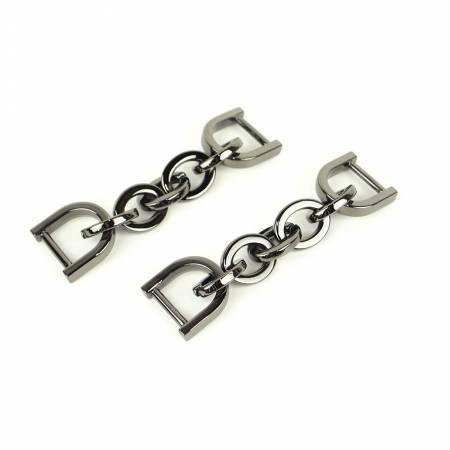 Sallie Tomato Chain Strap Connectors - 2 pk 1/2 Gun Metal