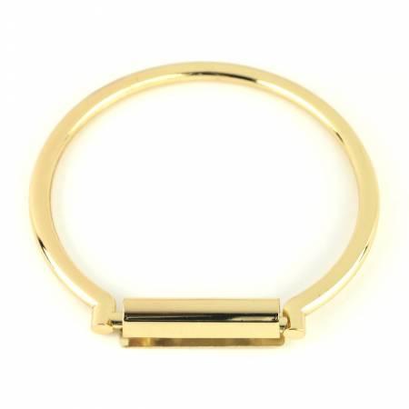 Round Metal Purse Handle Set Gold