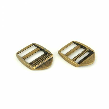 Ladder Lock Slider Buckles 1in Antique