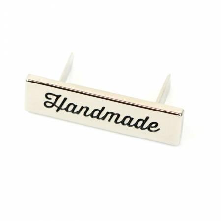 Script Handmade Labels Nickel