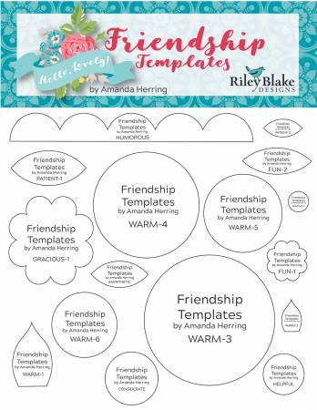 Amanda Herring Friendship Quilt Templates