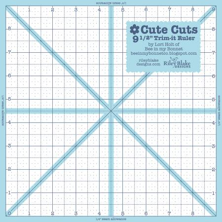 Trim It Ruler Square 9-1/2in x 9-1/2in