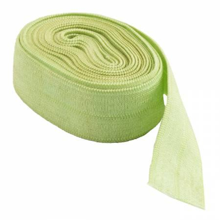 Fold-over Elastic 5/8in Apple Green 2YD