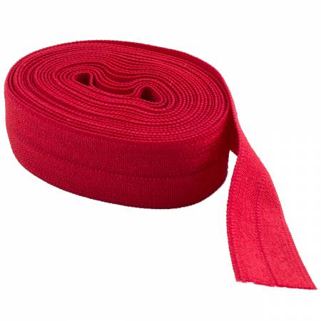 Fold-over Elastic 5/8in Red 2YD