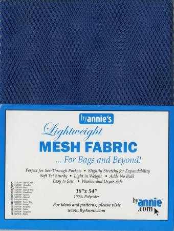 Lightweight Mesh Fabric - Blastoff Blue - 18x54in