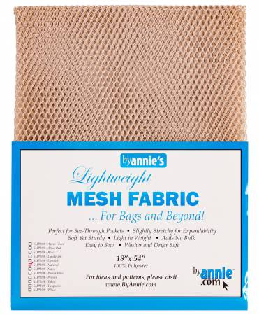 Lightweight Mesh Fabric Natural 18x54in