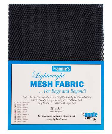 Lightweight Mesh Fabric - Navy 18x54in