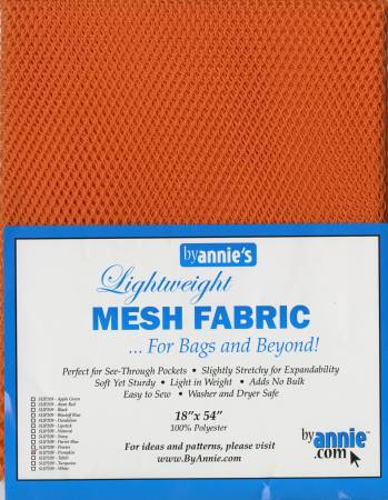 Lightweight Mesh Fabric - Pumpkin - 18x54in