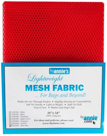 Mesh Fabric Lightweight Atomic Red 18in x 54in