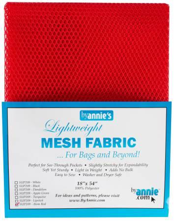 Mesh Fabric 18x54 Atom Red