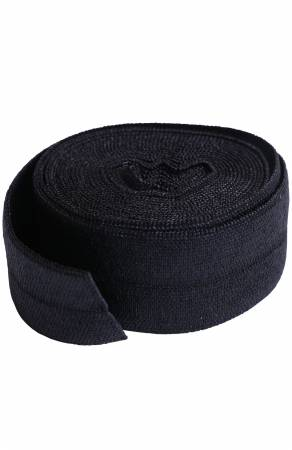 Fold-over Elastic 3/4in x 2yd Black - SUP211-2-BLC