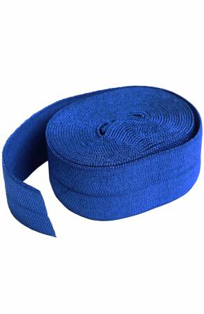 Fold-over Elastic 3/4in x 2yd Blastoff Blue - By Annie