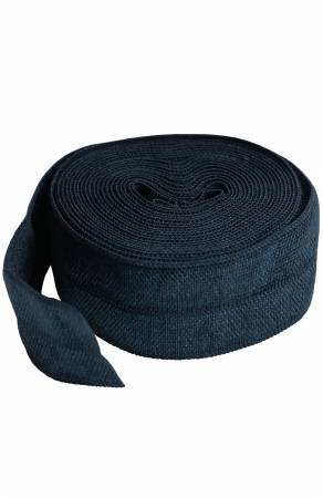 Fold-over Elastic 3/4in x 2yd Navy