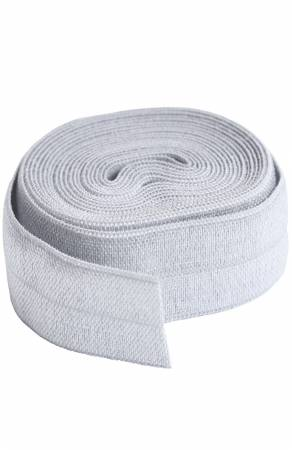 Fold-over Elastic 3/4in x 2yd Pewter