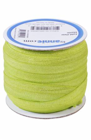 Fold-over Elastic 3/4in x 50yd Apple Green