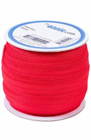 Fold-over Elastic 3/4in x 50yd Atom Red