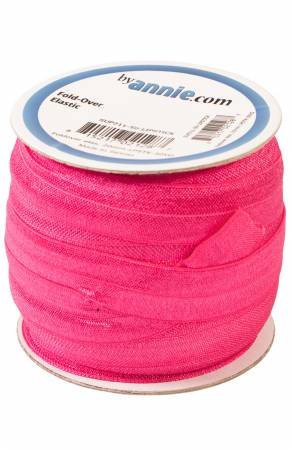 Fold-over Elastic 3/4in x 50yd Lipstick