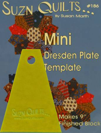 Mini Dresden Plate Template by Suzn Quilts