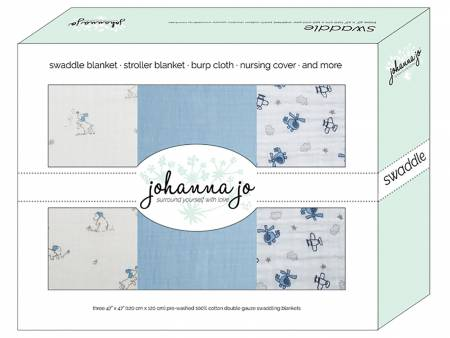 3-Pack Swaddle blankets Puppy