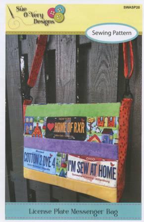 License Plate Messenger Bag pattern