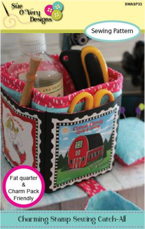 Charming Stamp Sewing Catch All *