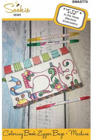 CD Coloring Book Zipper Pouch In the Hoop - Machine
