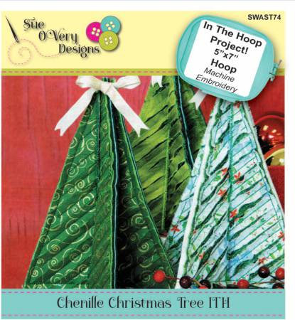 CD Chenille Christmas Tree In the Hoop