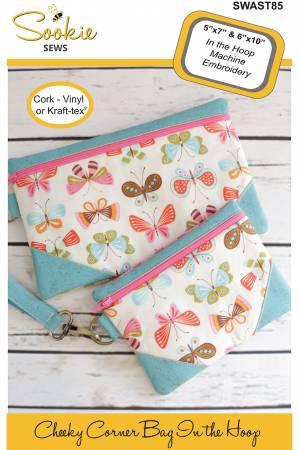 Cheeky Corner Zipper Bag Machine Embroidery CD