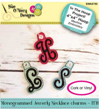 Monogrammed Jewerly Necklace Charms