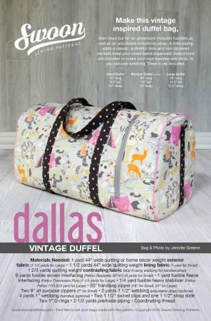 Dallas Vintage Duffel Pattern