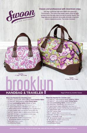 Brooklyn Handbag & Traveler Pattern by Swoon