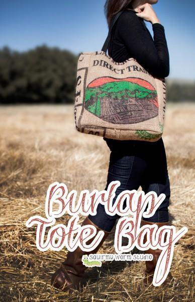 Burlap Tote Bag