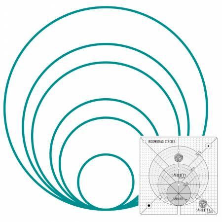 SARIDITTY 4pc Boomerang  and Circles Low Shank Set