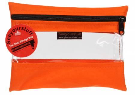 See Your Stuff Bag 6 x 8 Tangerine
