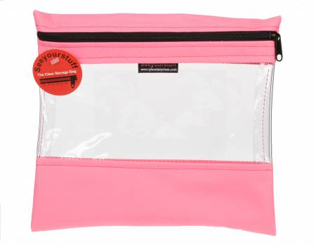 Bag See Your Stuff 10in x 11in Pink
