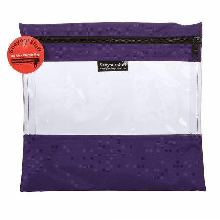 Bag See Your Stuff 10in x 11in Purple