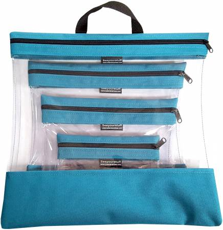 See Your Stuff 4pc Aqua Bag Set