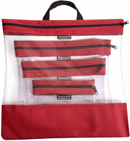See Your Stuff 4pc Cardinal Bag Set